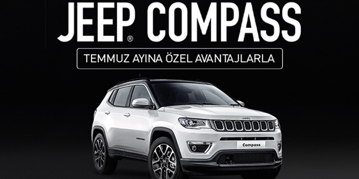 Sınırlı sayıda Jeep Compass Temmuz ayına özel avantajlarla!