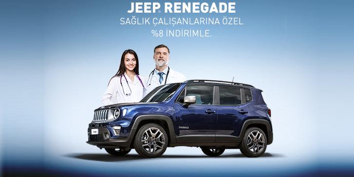 Jeep Renegade Ağustos ayında sağlık çalışanlarına özel 9% indirimle