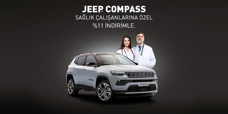 Jeep Compass Ekim ayında sağlık çalışanlarına özel 11% indirimle Jeep Showroom'larında.